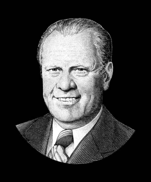 Government Digital Art - President Gerald Ford Graphic by War Is Hell Store