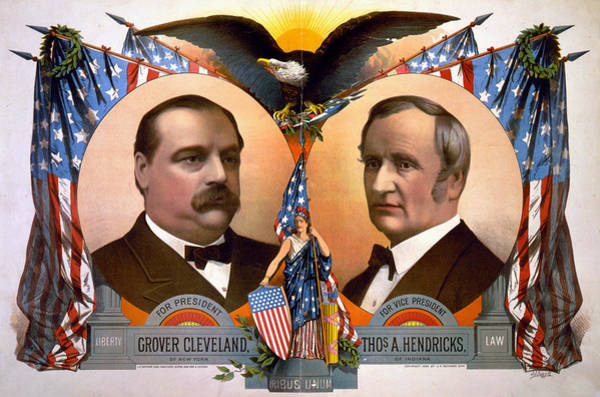 Wall Art - Photograph - President Glover Cleveland And Vice President Thomas A Hendricks   by International  Images