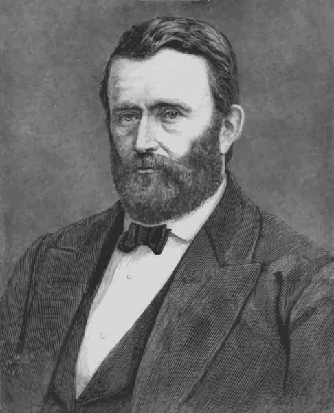 U S Painting - President Grant by War Is Hell Store