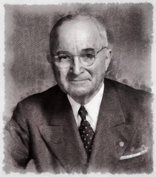 Wall Art - Painting - President Harry S. Truman by John Springfield