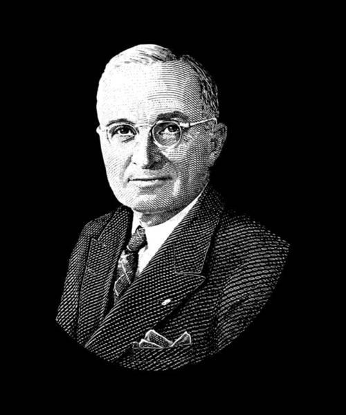 World War 2 Digital Art - President Harry Truman Graphic by War Is Hell Store