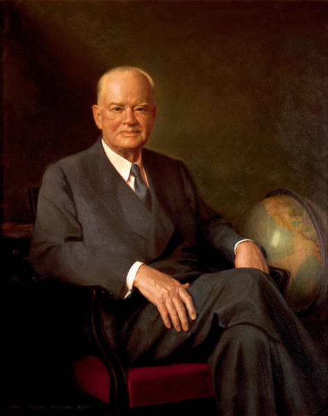 Wall Art - Painting - President Herbert Hoover Painting by War Is Hell Store