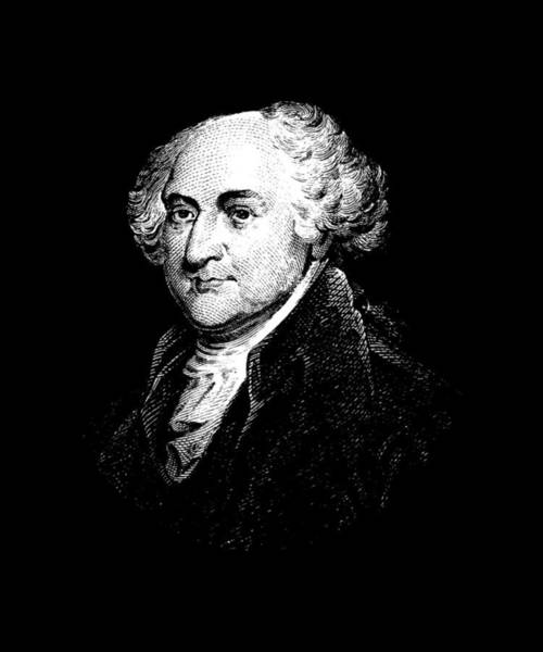 Wall Art - Mixed Media - President John Adams Graphic by War Is Hell Store