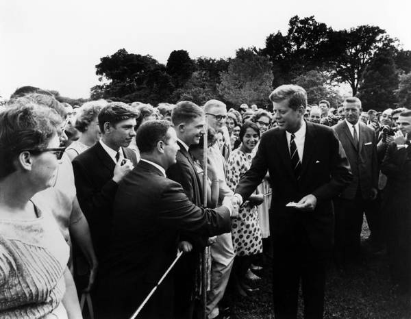 Democratic Party Photograph - President John F. Kennedy And The Peace Corps by War Is Hell Store