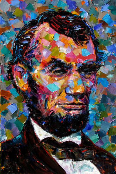 Wall Art - Painting - President Lincoln by Debra Hurd