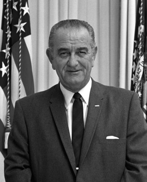 Democratic Party Photograph - President Lyndon Johnson by War Is Hell Store