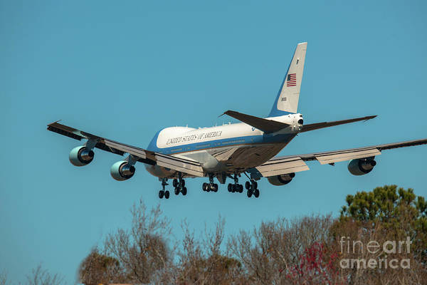 Photograph - President Trump On Final Approach Into Charleston Sc by Dale Powell