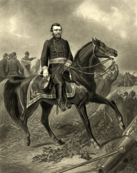 Wall Art - Photograph - President Ulysses S Grant - Horseback by International  Images