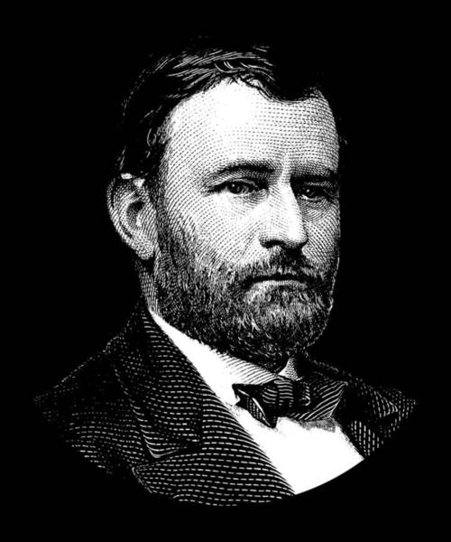 Wall Art - Digital Art - President Ulysses S. Grant Graphic Three by War Is Hell Store