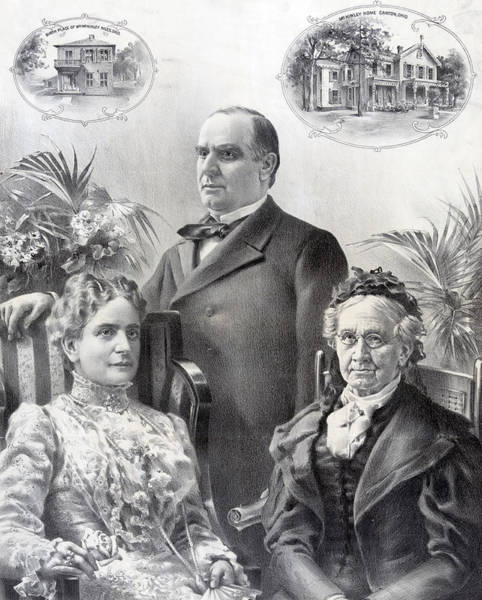 Wall Art - Photograph - President William Mckinley And Family by International  Images