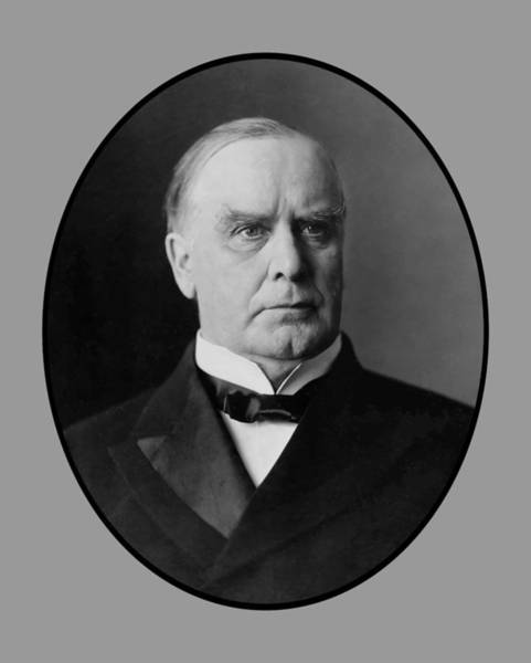 Us Presidents Painting - President William Mckinley  by War Is Hell Store