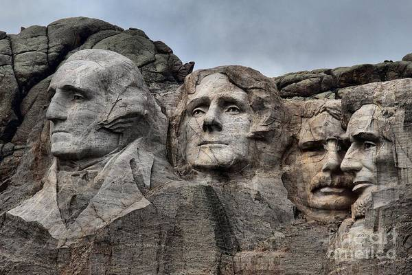 Mt. Adams Photograph - Presidents Of Mt. Rushmore by Adam Jewell