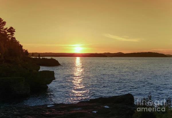 Photograph - Presque Isle Golden Glow by Rachel Cohen