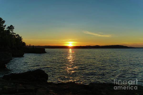Photograph - Presque Isle Sunset Glow by Rachel Cohen