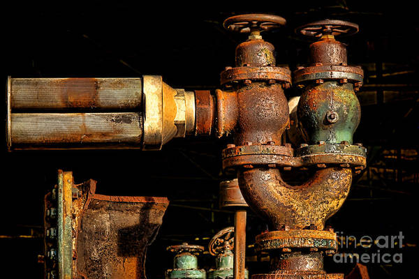 Wall Art - Photograph - Pressure Relief Valves by Olivier Le Queinec