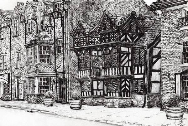 Old West Drawing - Prestbury Nat West Bank by Vincent Alexander Booth
