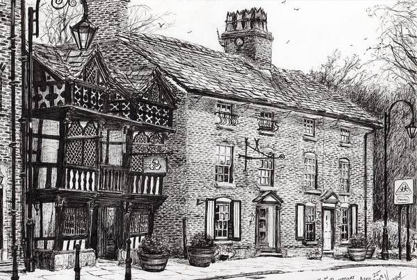 Old West Drawing - Prestbury by Vincent Alexander Booth