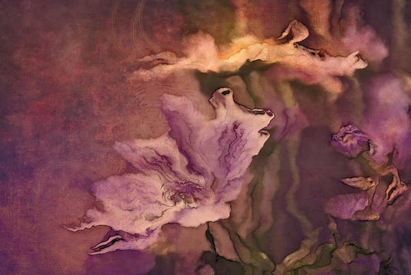 Painterly Digital Art - Pretty Bouquet - A04ct3 by Variance Collections