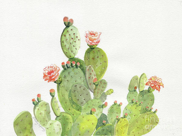 Desert Rose Painting - Pretty Cactus by Melly Terpening