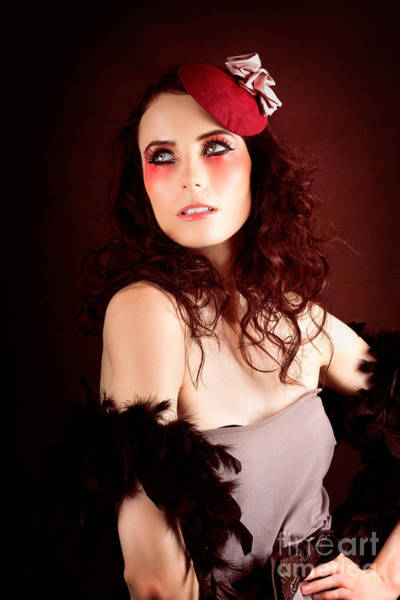 Photograph - Pretty Glamour Fashion Girl On Red Backlight by Jorgo Photography - Wall Art Gallery