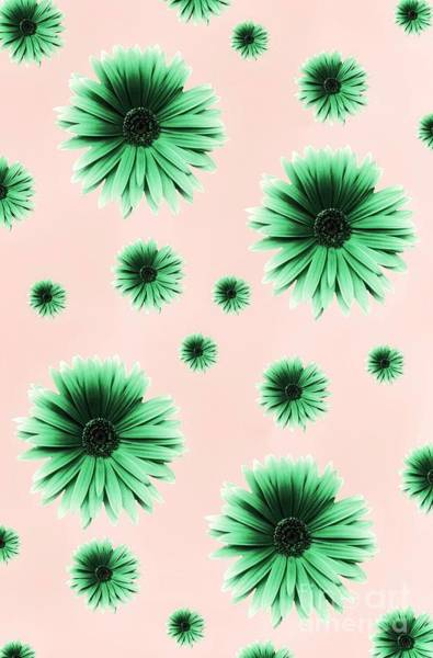 Digital Art - Pretty Green Flowers by Rachel Hannah