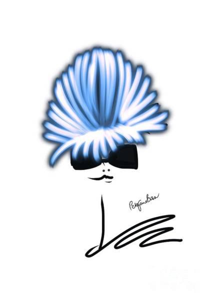 Hairdo Digital Art - Pretty In Pastel Blue by Peta Brown