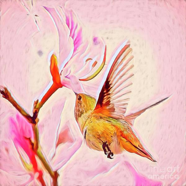 Nectar Mixed Media - Pretty In Pink by Edita De Lima