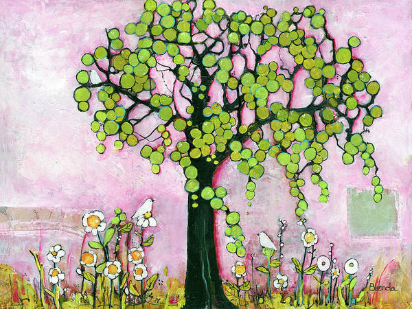 Wall Art - Painting - Pretty In Pink Paradise Tree by Blenda Studio