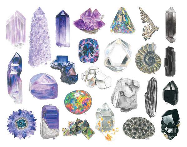 Color Pencils Drawing - Pretty In Purple by Abigail Kramer