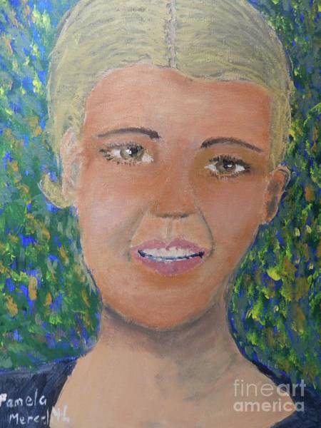 Wall Art - Painting - Pretty Lady by Pamela Meredith