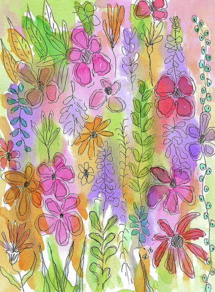 Painting - Pretty Little Flower Garden by Susan Campbell