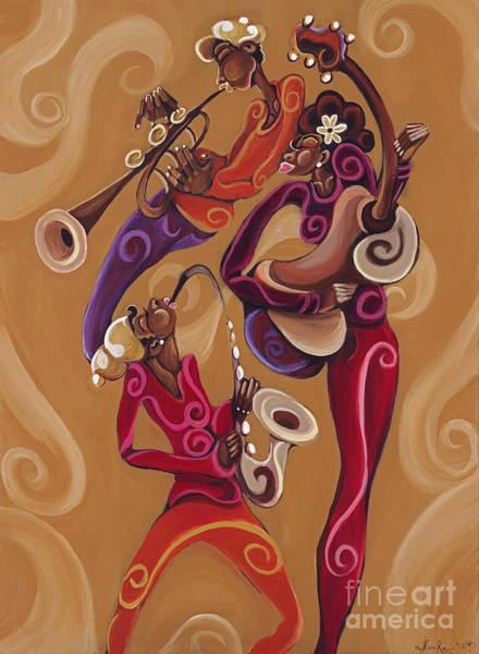 Sax Painting - Pretty Noise by Sharika Mahdi