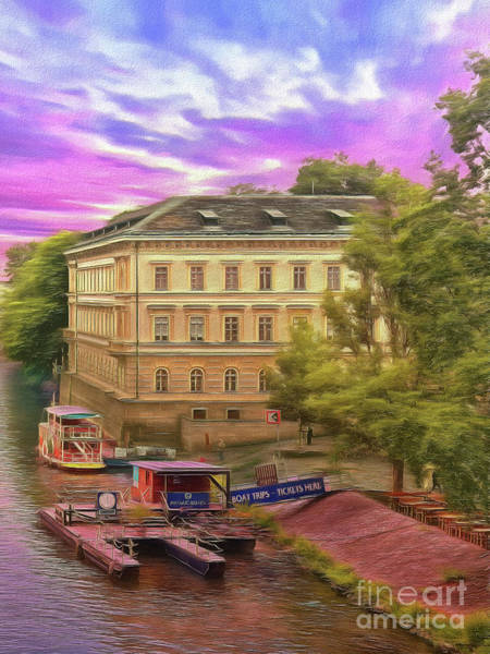 Photograph - Pretty On The River - Prague by Leigh Kemp
