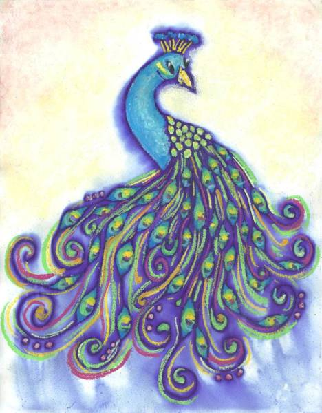 Mixed Media - Pretty Peacock by Merrie Kapron Taverna