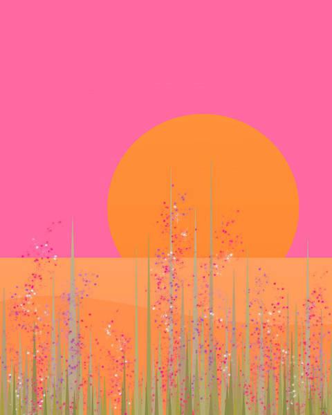 Digital Art - Pretty Pink Prairie Flowers by Val Arie