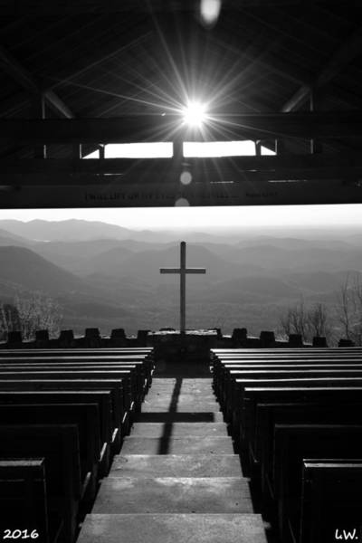 Photograph - Pretty Place Aka Fred W. Symmes Chapel Black And White by Lisa Wooten