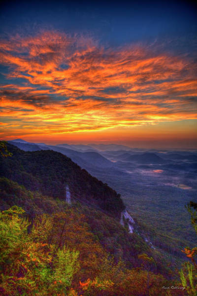 Photograph - Pretty Place Sunrise Overlook Pretty Place Chapel Greenville Sc  Great Smoky Mountain Art by Reid Callaway