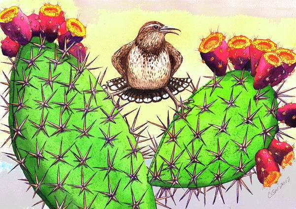 Painting - Prickly by Catherine G McElroy
