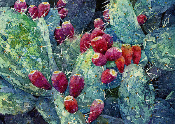 Wall Art - Painting - Prickly Pear 2 by Hailey E Herrera
