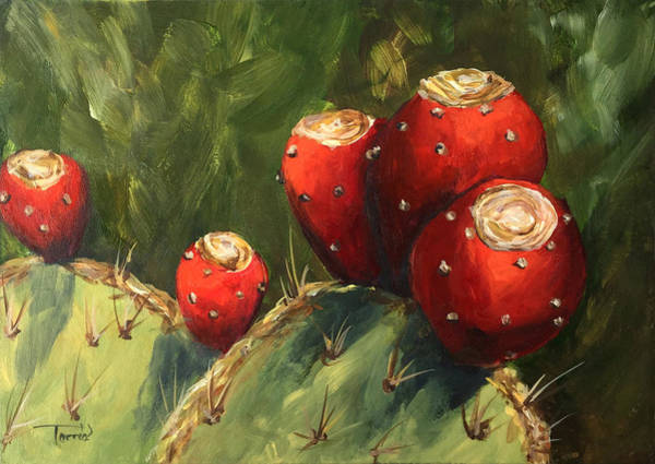 Wall Art - Painting - Prickly Pear IIi by Torrie Smiley