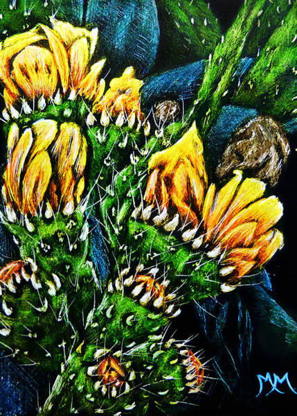 Painting - Prickly Pear - Sa97 by Monique Morin Matson