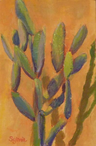 Wall Art - Painting - Prickly Peat by Sylvia Carlton