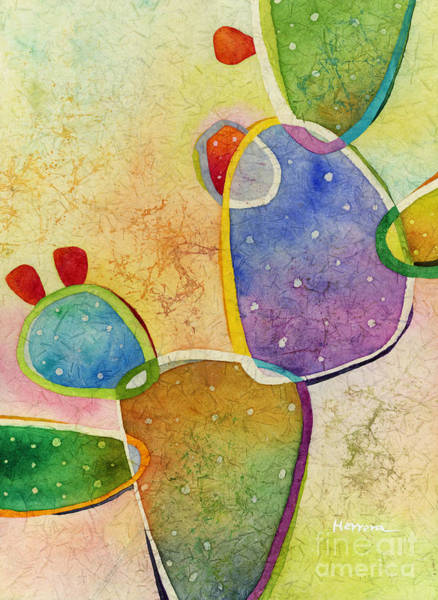 Pears Wall Art - Painting - Prickly Pizazz 3 by Hailey E Herrera