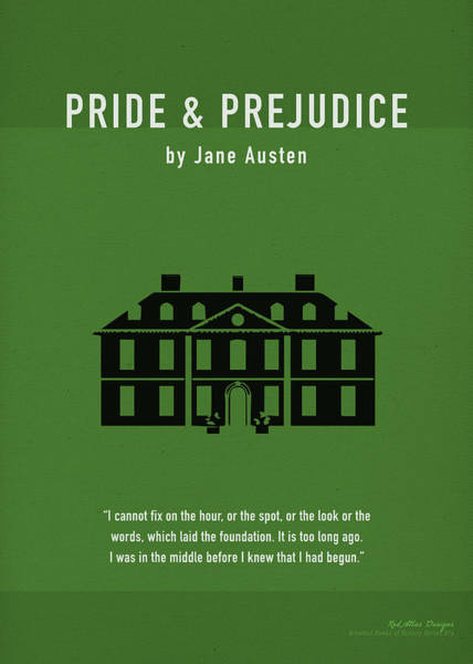 Jane Austen Wall Art - Mixed Media - Pride And Prejudice Greatest Books Ever Series 016 by Design Turnpike