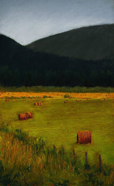 Painting - Priest Lake Hay Bales by David Patterson