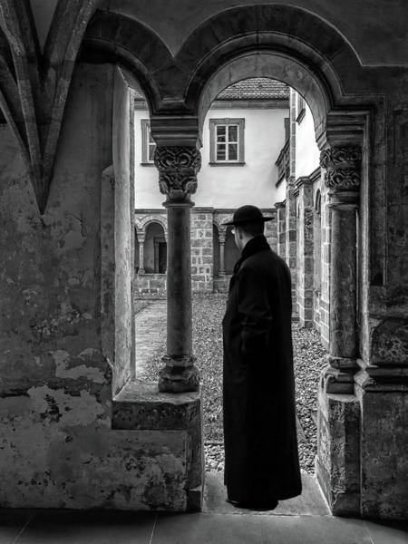 Photograph - Priest Under Archway by Carlos Diaz