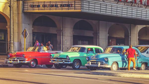 Wall Art - Photograph - Primary Color Classic Cars Havana Cuba Matte Finish by Joan Carroll