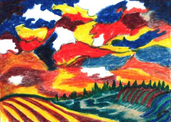 Primary Colors Drawing - Primary Color Field by Jacquie King