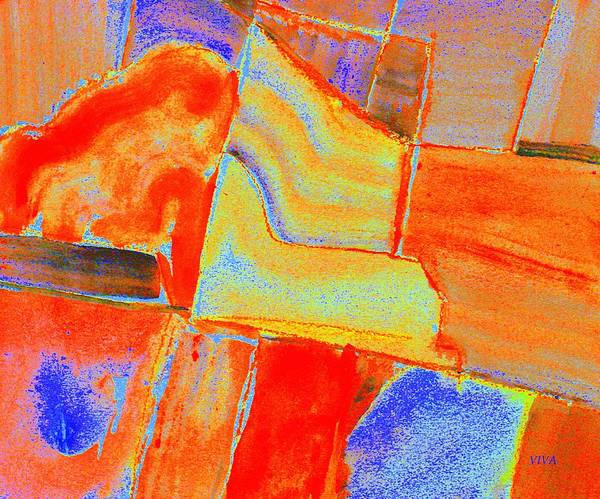 Painting - Primary Colours Abstract by VIVA Anderson