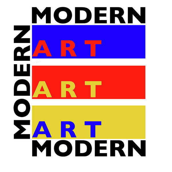 Typo Painting - Primary Modern by Charles Stuart